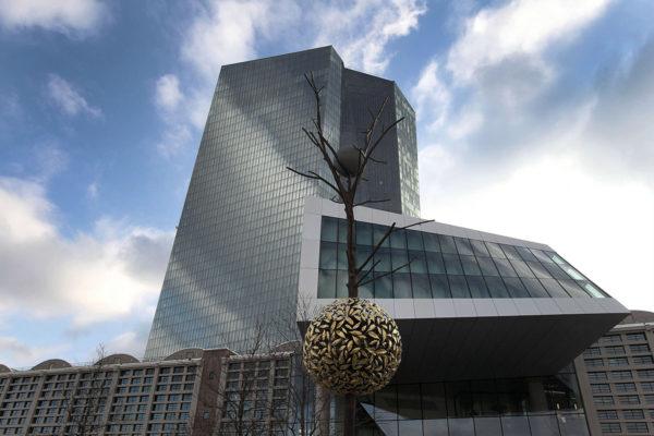 Euroopan keskuspankin pääkonttori Saksan Frankfurtissa.