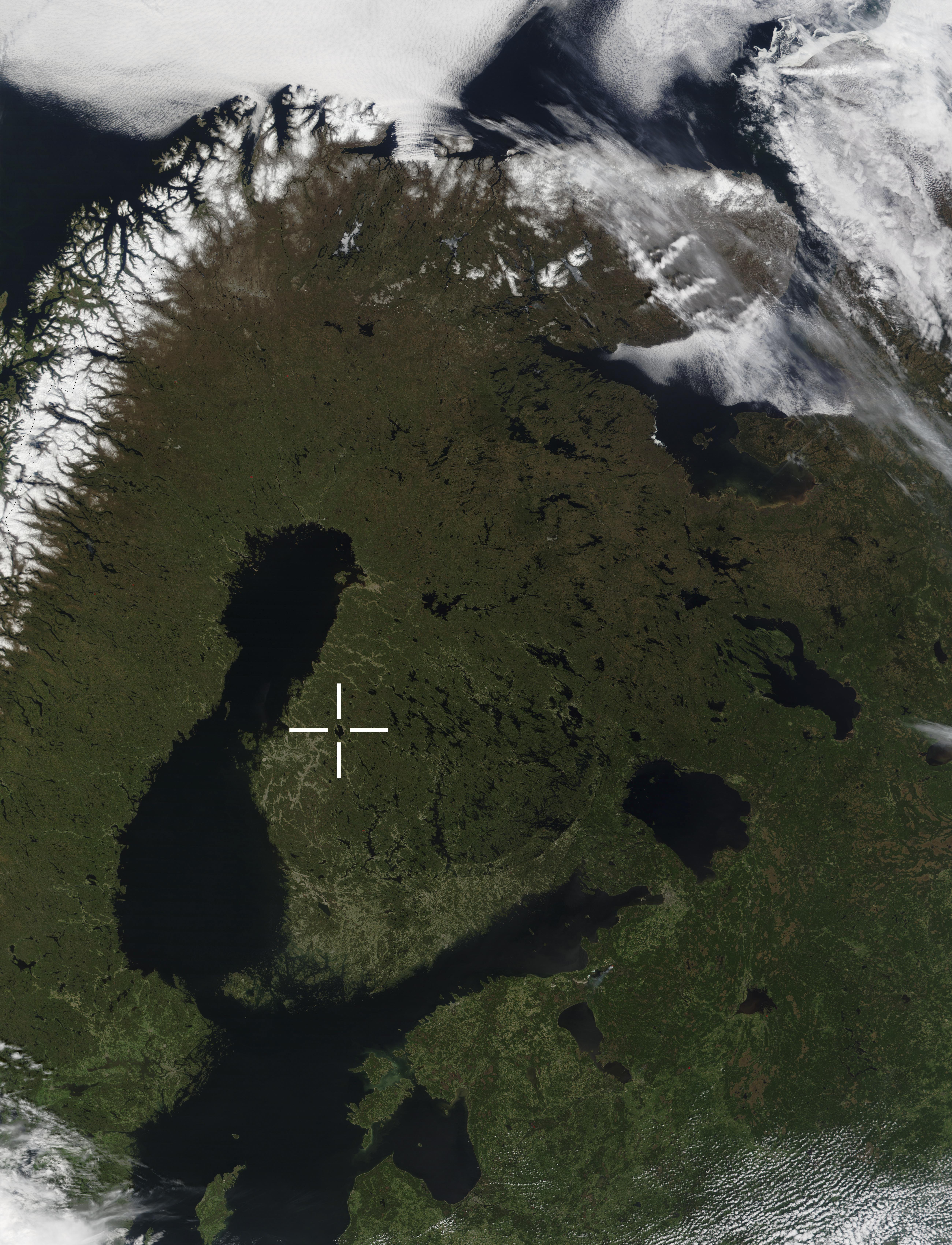 Lappajärvi on 77 miljoonaa vuotta sitten tapahtuneen asteroiditörmäyksen aiheuttama kraatteri.