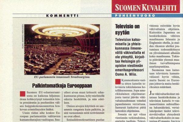 """SK 33/1994 (19.8.1994) Tuomo Lappalainen: """"Palkintomatkoja Eurooppaan"""" Kuva: Markku Niskanen"""