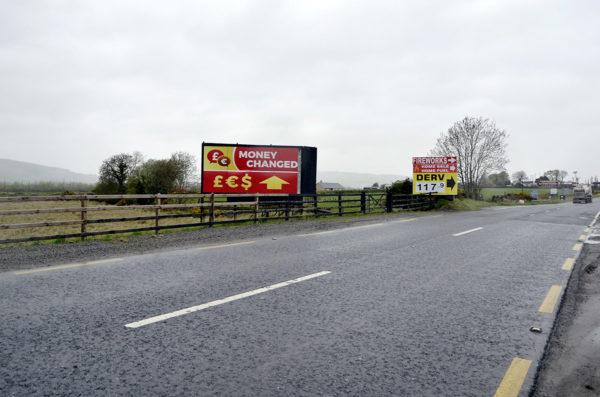 Irlannin ja Pohjois-Irlannin raja 1. toukokuuta 2018.