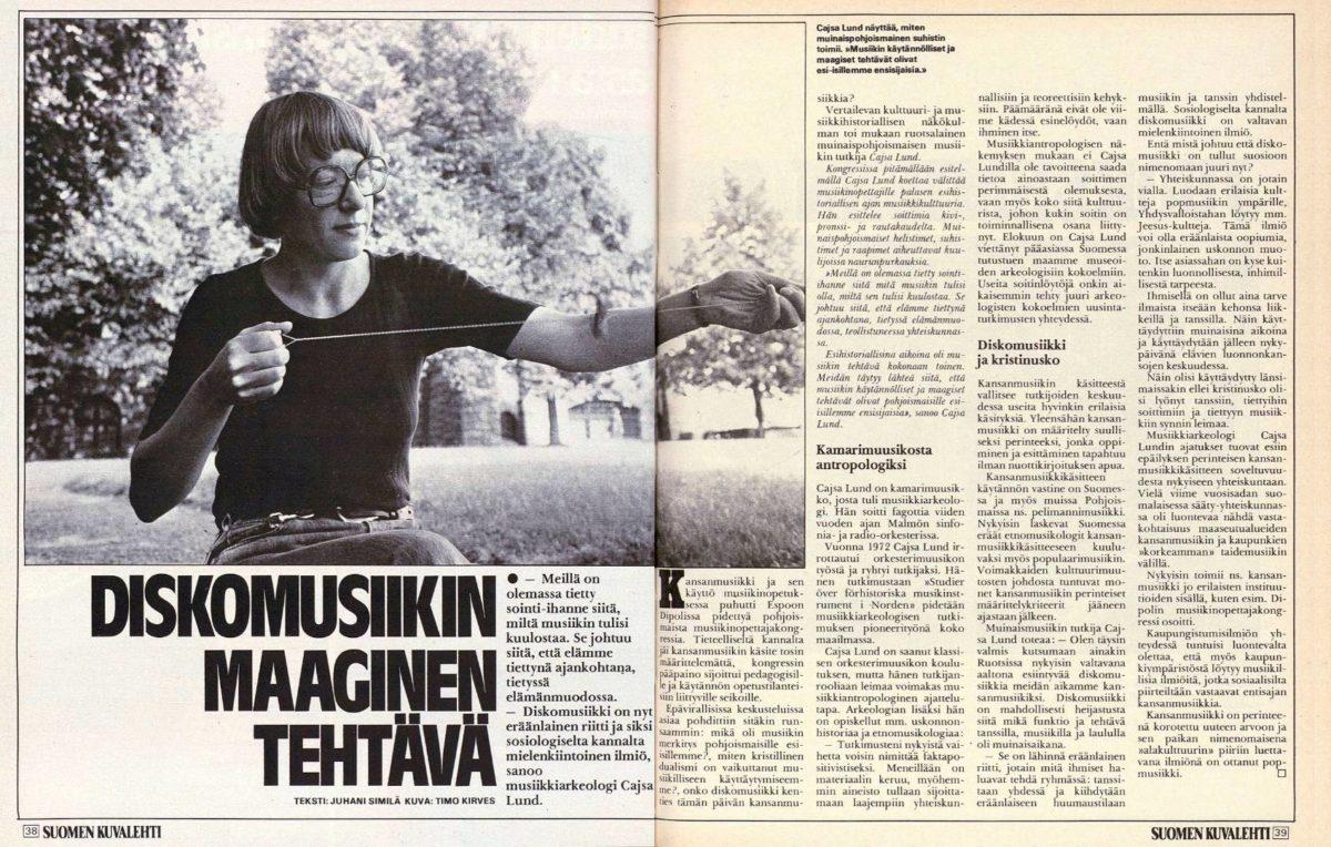 """SK 34/1979 (24.8.1979) Juhani Similä: """"Diskomusiikin maaginen tehtävä"""""""