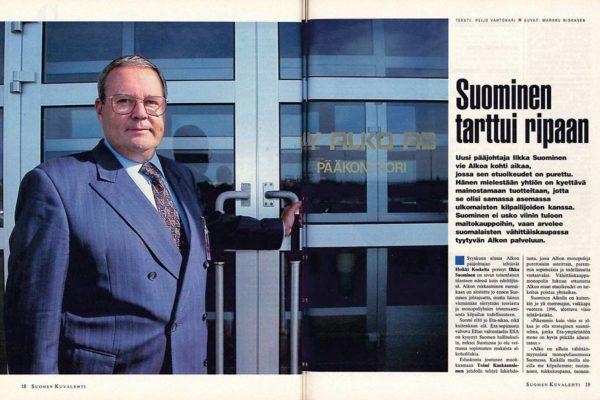 """SK 36/1994 (9.9.1994) Reijo Vahtokari:""""Suominen tarttui ripaan"""""""