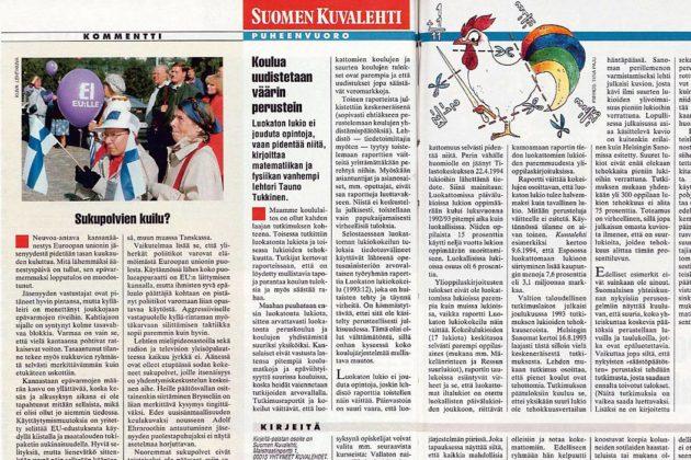 """SK 37/1994 (16.9.1994) Jouni Tervo: """"Sukupolvien kuilu?"""""""