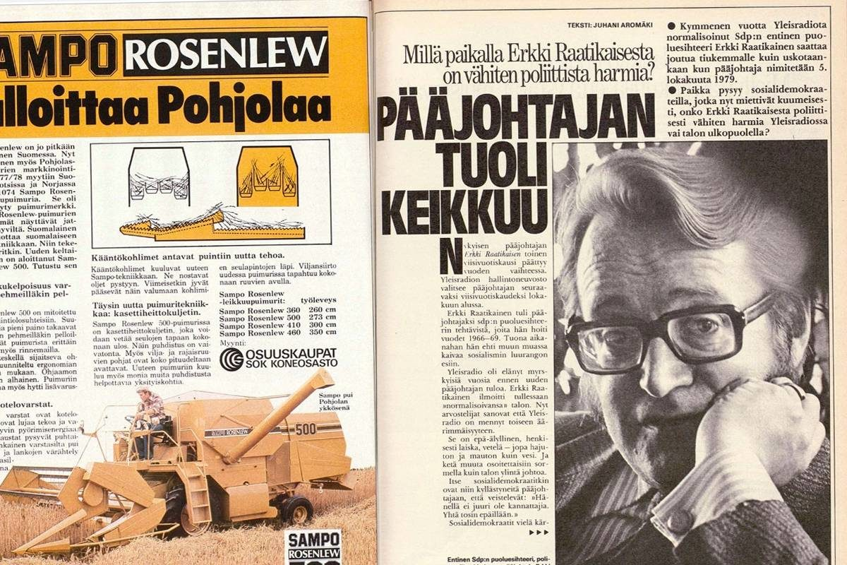 """SK 38/1979 (21.9.1979): Juhani Aromäki: """"Pääjohtajan tuoli keikkuu"""""""