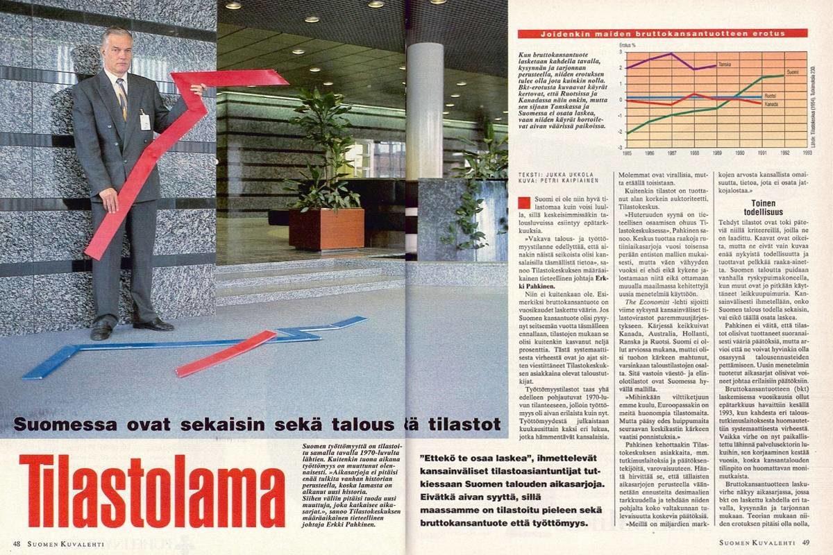 """SK 38/1994 (23.9.1994) Jukka Ukkola: """"Tilastolama"""""""