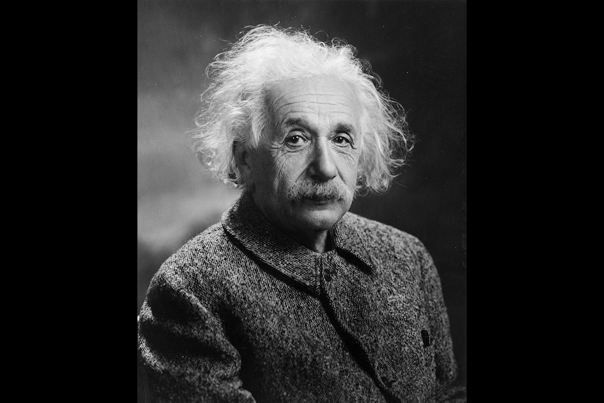 Albert Einstein kuvattuna vuonna 1947.