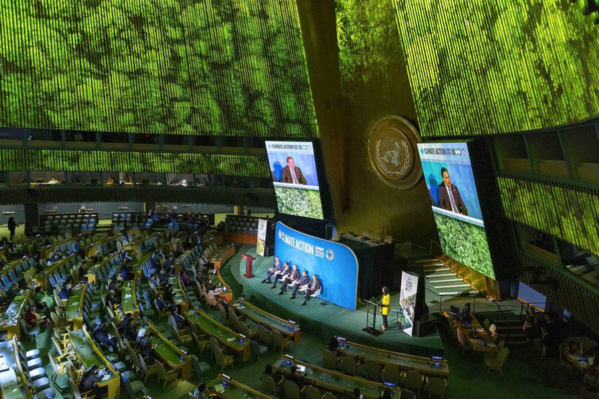 YK:n ilmastohuippukokous järjestettiin YK:n päämajassa New Yorkissa 23. syyskuuta.