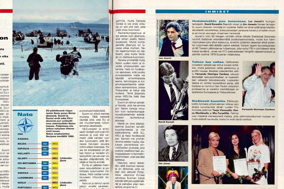 """SK 41/1994 (14.10.1994) Reijo Vahtokari: """"Ihmiset: Hedelmistään puu tunnetaan"""""""