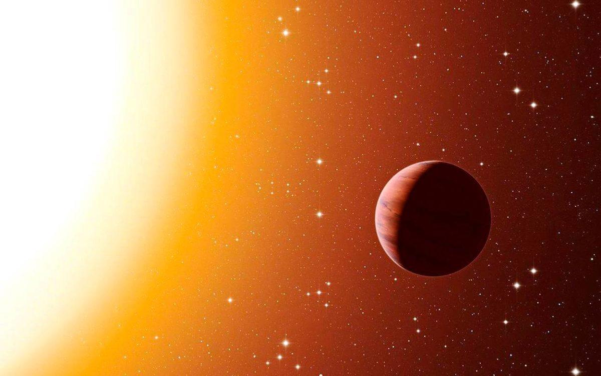 Ensimmäinen eksoplaneetta 51 Pegasi b löytyi 1995. Kuvituskuva.