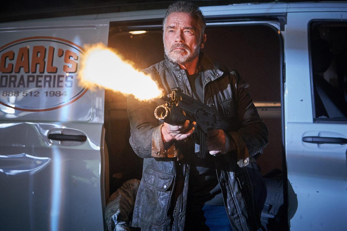 Arnold Schwarzenegger elokuvassa Terminator: Dark Fate.