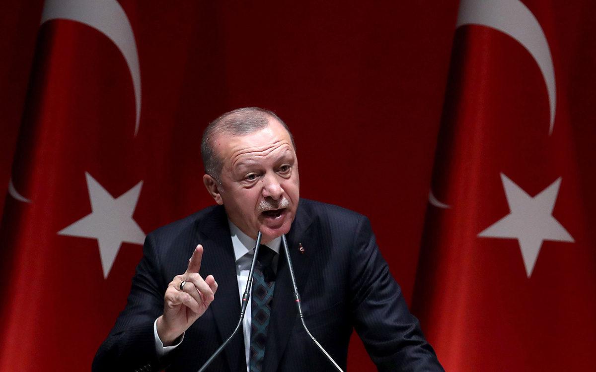 Turkin presidentti Recep Tayyip Erdoğan puhui Ankarassa 10. lokakuuta 2019.