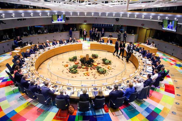 EU-maiden johtajat kokoontuivat huippukokoukseen Brysselissä 17. lokakuuta.