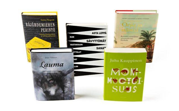 Nämä viisi kirjaa ovat ehdokkaina Kanava-tietokirjapalkinnon saajaksi.