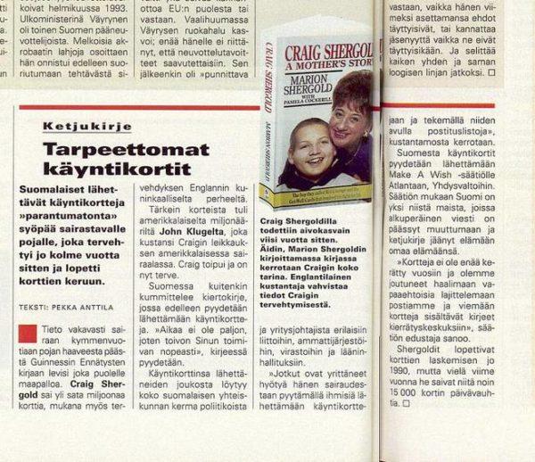 """SK 43/1994 (28.10.1994) Pekka Anttila: """"Tarpeettomat käyntikortit"""""""