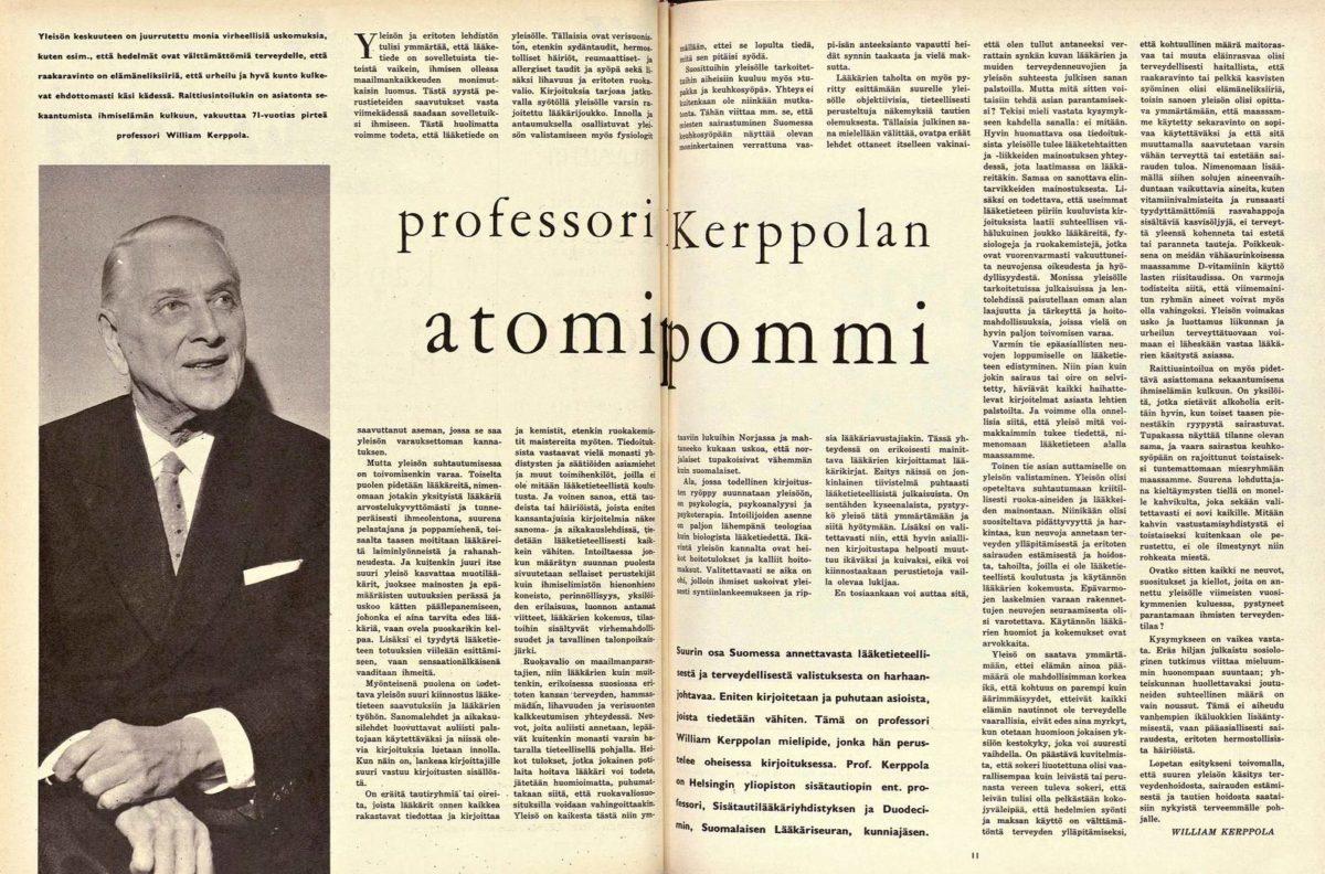 "SK 13/1962 (31.3.1962) William Kerppola: ""Professori Kerppolan atomipommi"""