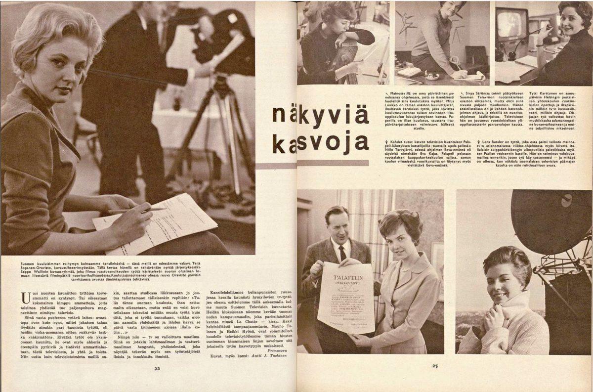 """SK 15/1959 (11.4.1959) Antti J. Taskinen: """"Näkyviä kasvoja"""""""