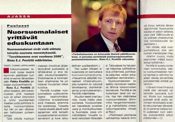 """SK 44/1994 (4.11.1994) Tuomo Lappalainen: """"Nuorsuomalaiset yrittävät eduskuntaan"""""""