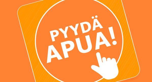 Pyydä apua -nappi on yksi esimerkki lapsiperheille suunnatuista verkon palvelukanavista. Se on käytössä monissa maakunnissa.