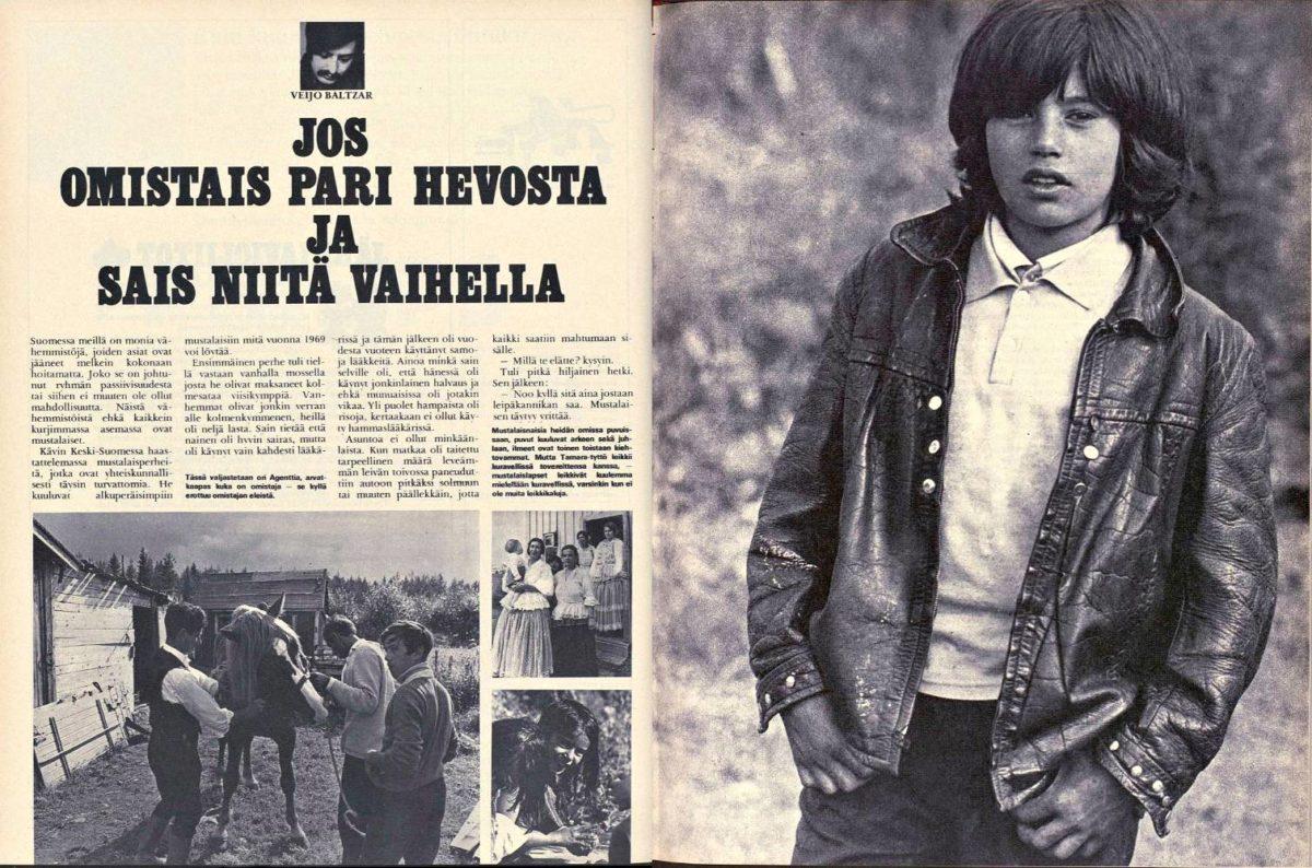"SK 44/1969 (31.100.1969) Veijo Baltzar: ""Jos omistais pari hevosta ja sais niitä vaihella"""