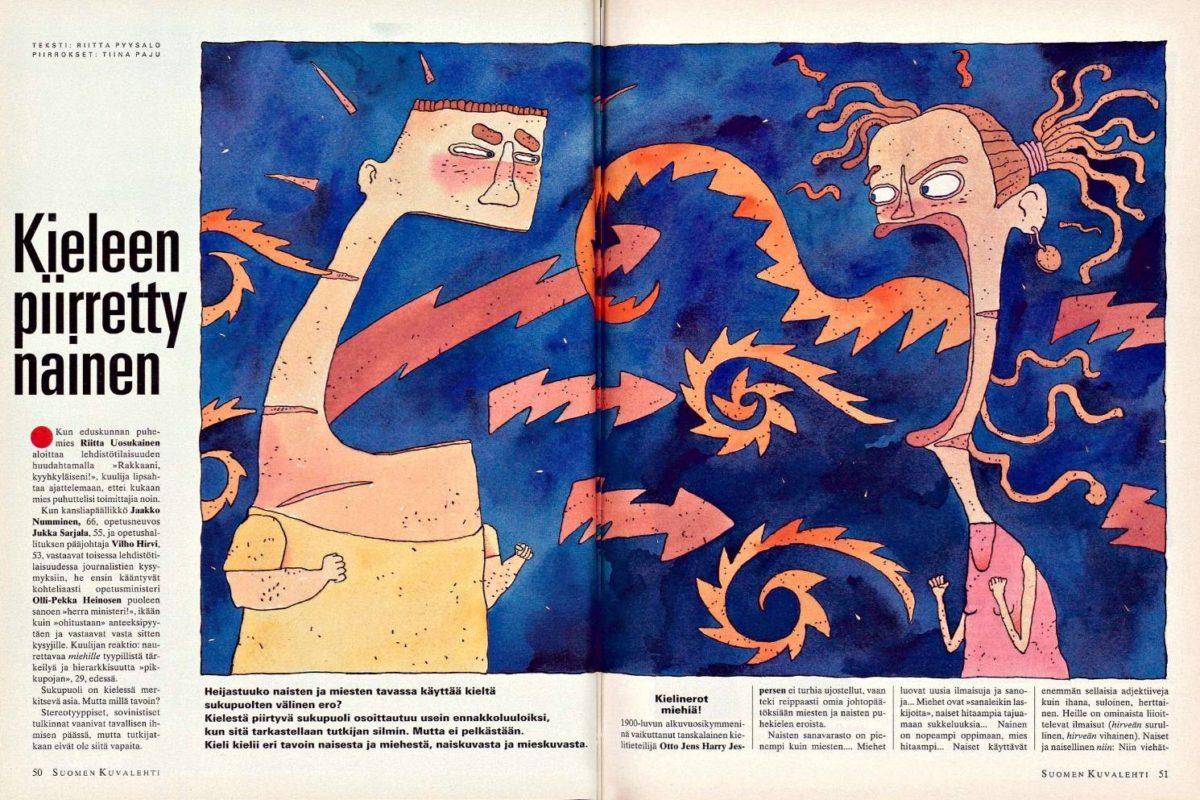 """SK 47/1994 (25.11.1994) Riitta Pyysalo: """"Kieleen piirretty nainen"""""""