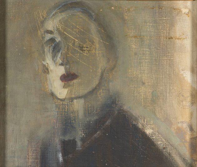 Helene Schjerfbeck oli tarkka siitä, mitä päästi ulos ateljeestaan. Keskeneräinen omakuva (1921) löytyi Tehtaan tyttöjä -maalauksen takaa.