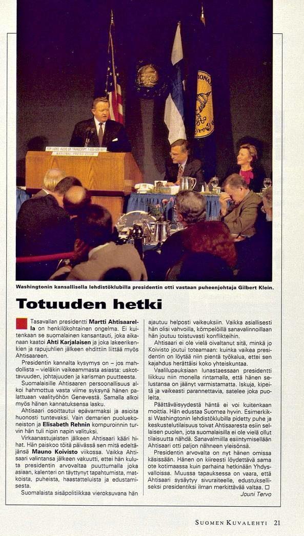 """SK 46/1994 (18.11.1994) Jouni Tervo: """"Totuuden hetki"""""""