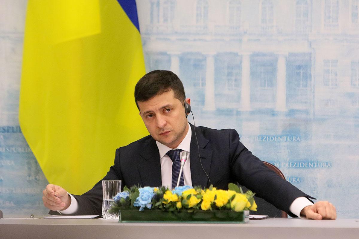 Ukrainan presidentti Volodymyr Zelenskyi vieraili Vilnassa Liettuassa 27. marraskuuta 2019.