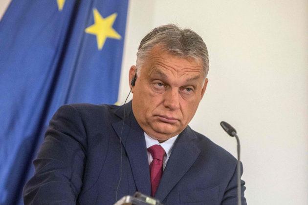 Unkarin pääministeri Viktor Orbán lehdistötilaisuudessa Prahassa 5. marraskuuta 2019.