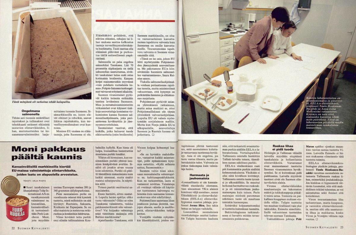 """SK 50/1994 (16.12.1994) Arja Piispa: """"Moni pakkaus päältä kaunis"""""""