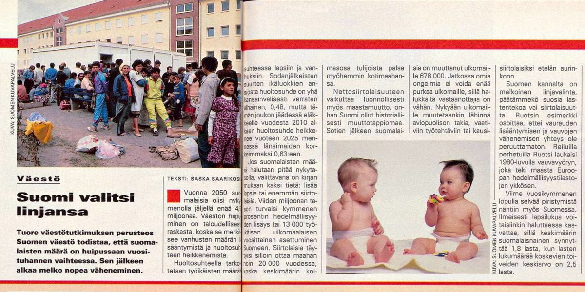 """SK 51/1994 (23.12.1994) Saska Saarikoski: """"Suomi valitsi linjansa"""""""