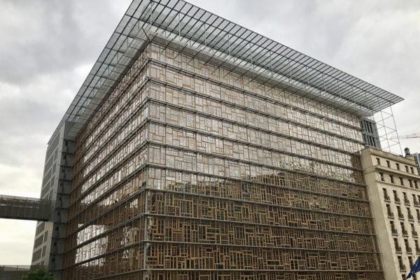 Vuonna 2016 valmistunutta Europa-rakennusta käyttävät EU-instituutioista neuvosto ja Eurooppa-neuvosto.