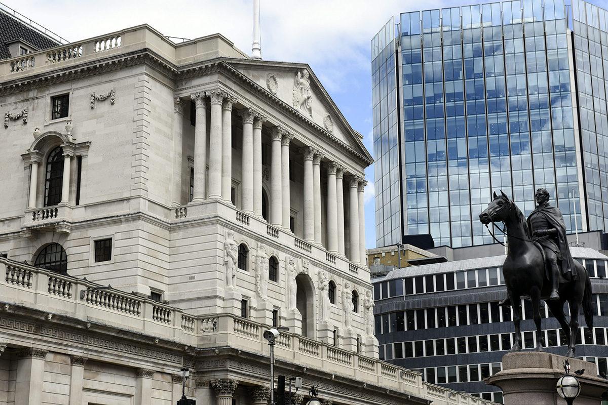 Myös Englannin keskuspankki sijaitsee Lontoon Cityssä.