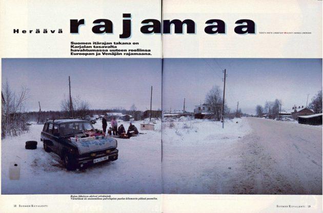 "SK 2/1995 (13.1.1995) Risto Lindstedt: ""Heräävä rajamaa"". Kuva: Hannu Lindroos."