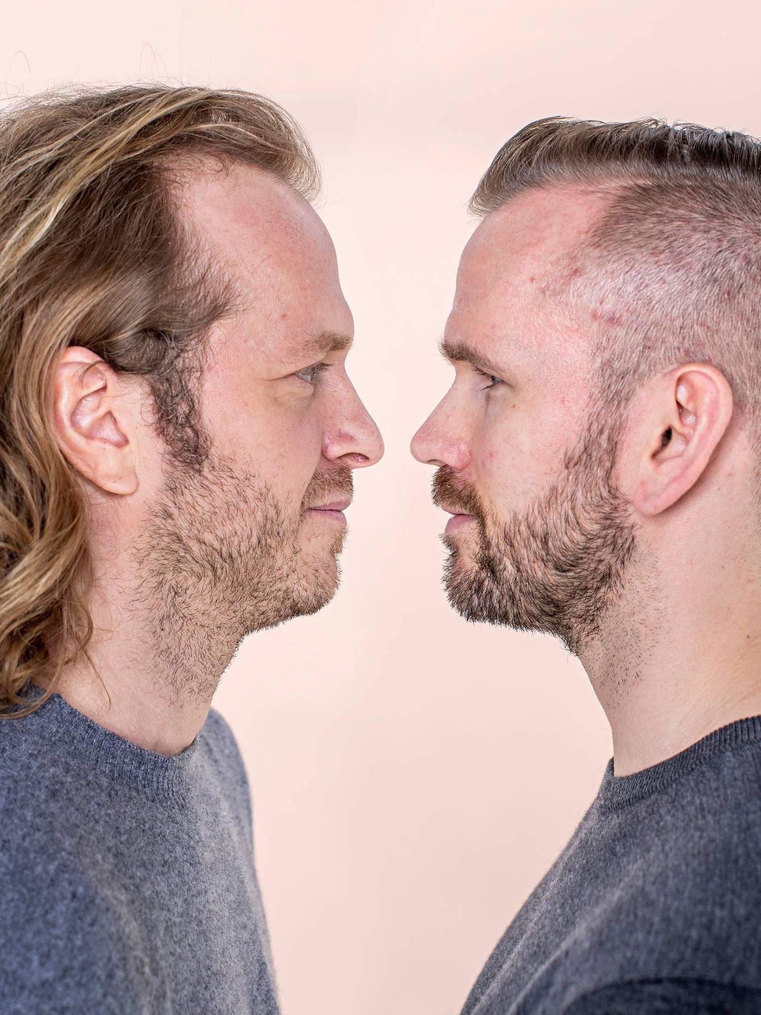 Timo ja Juuso ovat yrittäneet selvittää, kuka heidän isänsä on. dna-testi. perinnöllisyys. geenit.