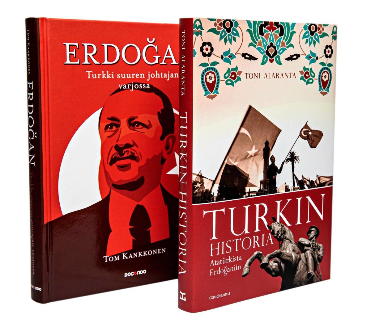 Toni Alaranta: Turkin historia –Atatürkista Erdoğaniin, 244 s. Gaudeamus, 2019. Tom Kankkonen: Erdoğan – Turkki suuren johtajan varjossa, 216 s. Docendo, 2019.
