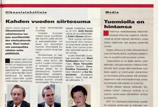 "SK 3/1995 (20. 1.1995) Risto Lindstedt: ""Tuomiolla on hintansa"""