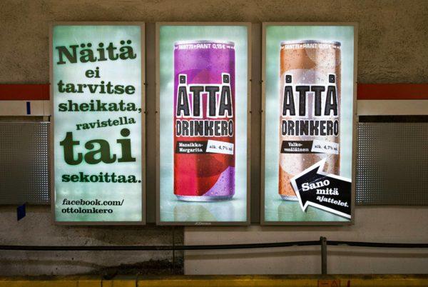 Lonkeroa mainostettiin Helsingin Kampissa maaliskuussa 2011.