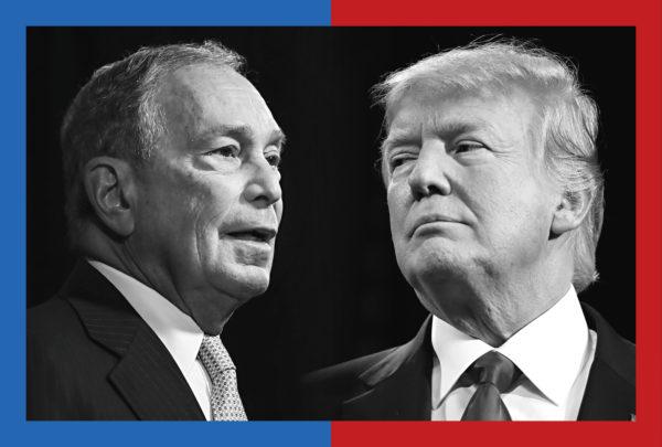 Michael Bloombergin suosio mitataan supertiistaina 3. maaliskuuta. Donald Trump on jo hänen kimpussaan.