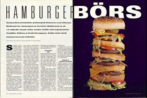 "SK 6/1995 (10.2.1995) Pekka Anttila: ""Hamburger Börs"""