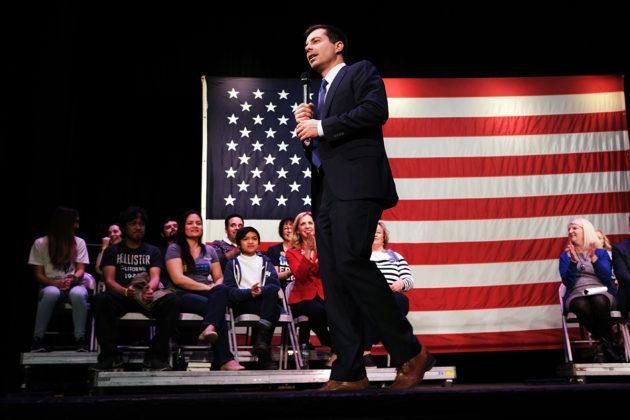 Pete Buttigieg puhui kannattajilleen Concordissa New Hampshiren osavaltiossa 4. helmikuuta 2020.