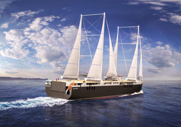 Ranskassa kehitetään ilmastosyistä purjerahtialusta, jonka on määrä matkustaa lähitulevaisuudessa Atlantin yli.