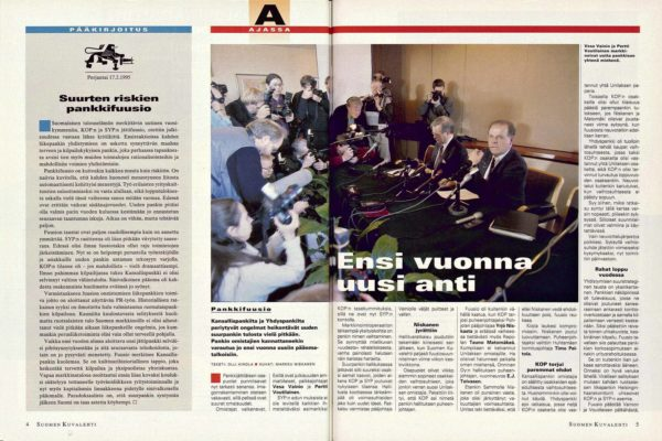 """SK 7/1995 (17.2.1995) Olli Ainola: """"Pankkifuusio: Ensi vuonna uusi anti"""""""
