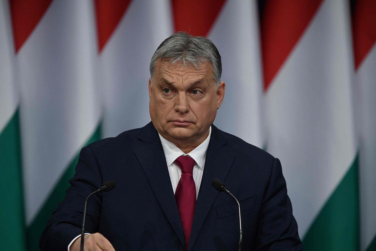 Unkarin pääministeri Viktor Orbán piti vuotuisen valtion tilaa käsittelevän puheensa Budapestissa 16. helmikuuta.