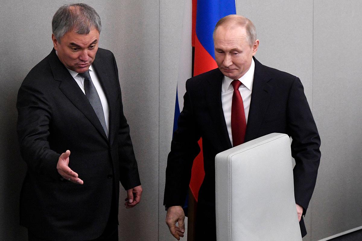 Presidentti Vladimir Putin saapui puhumaan Venäjän parlamenttiin 10. maaliskuuta 2020.