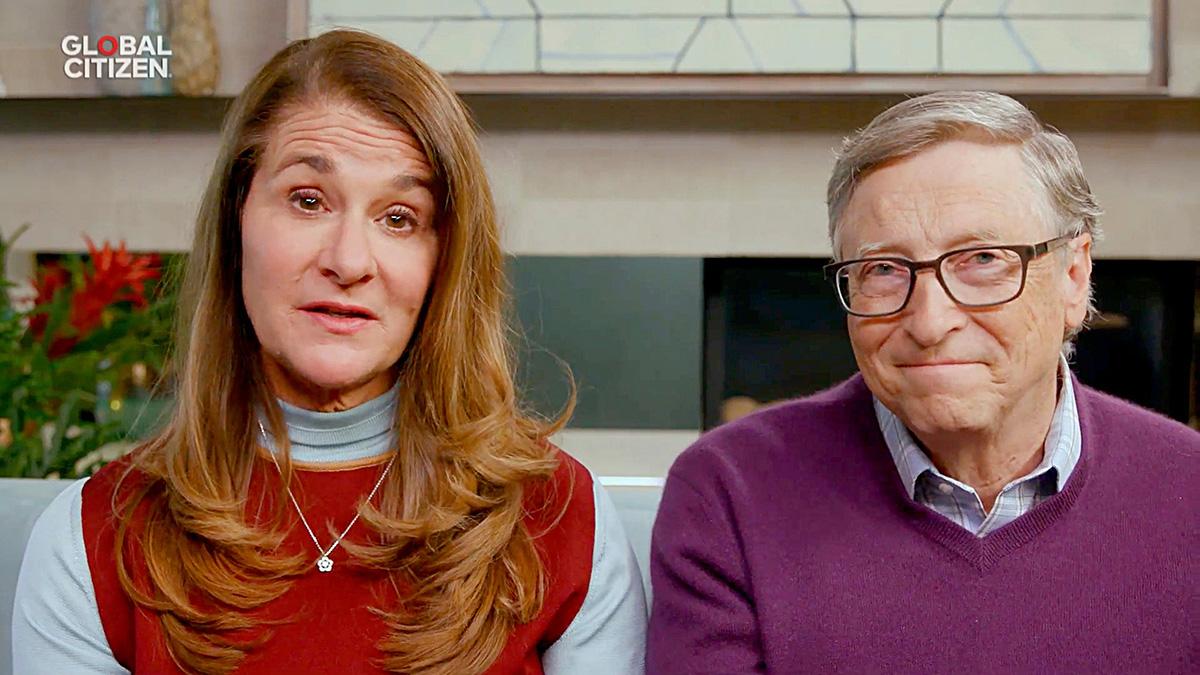 Bill ja Melinda Gates osallistuivat One World: Together At Home -tapahtumaan kotoaan 18. huhtikuuta.