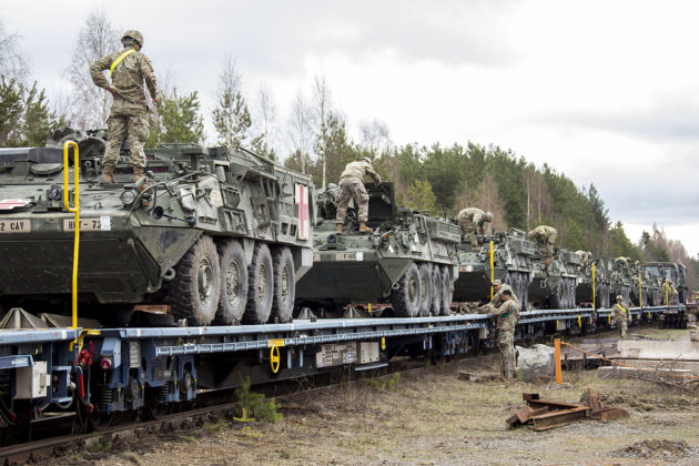 Yhdysvaltain asevoimien joukkoja osallistui maavoimien Arrow18-harjoitukseen toukokuussa 2018.