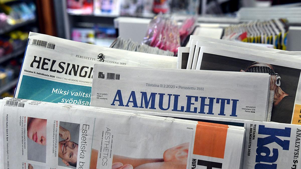 Sanomalehtiä. Kuvituskuva.