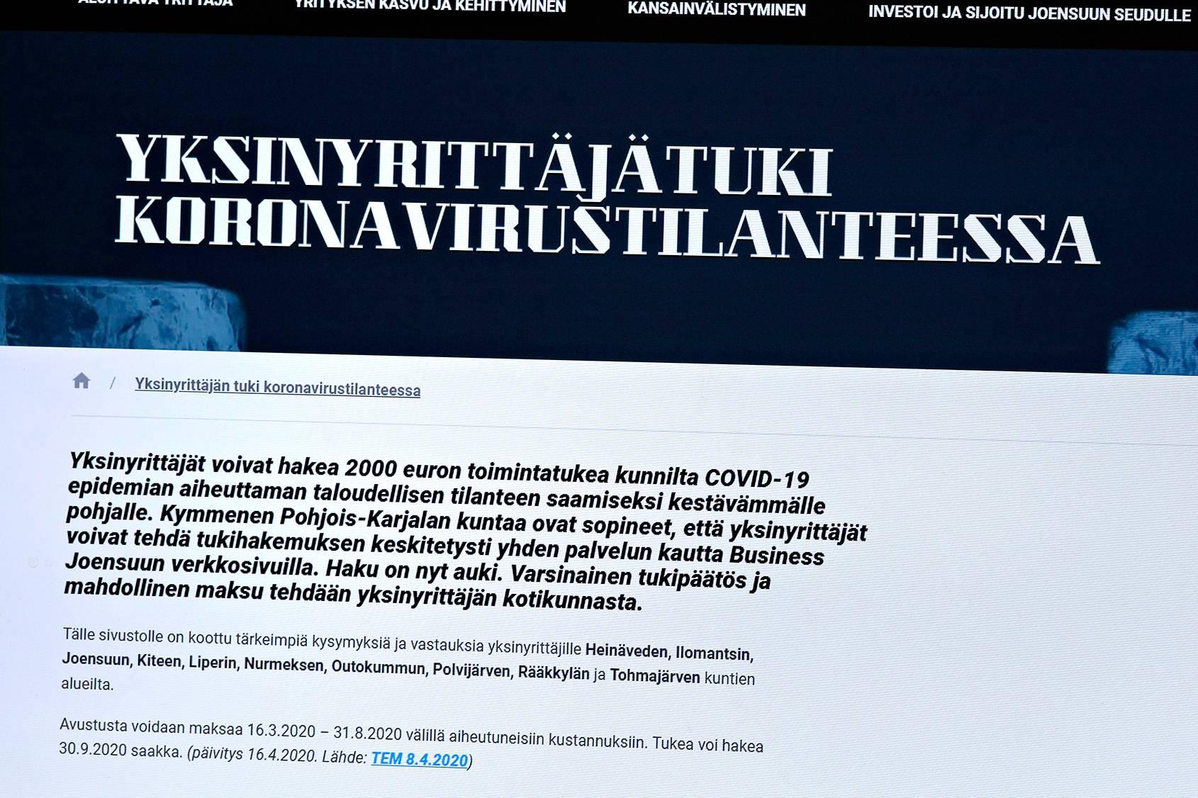 Business Finland oli jakanut 24. huhtikuuta mennessä koronatukea noin 250 miljoonaa euroa.