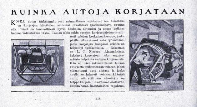 """SK 22/1920 (29.5.1920): """"Kuinka autoja korjataan""""."""