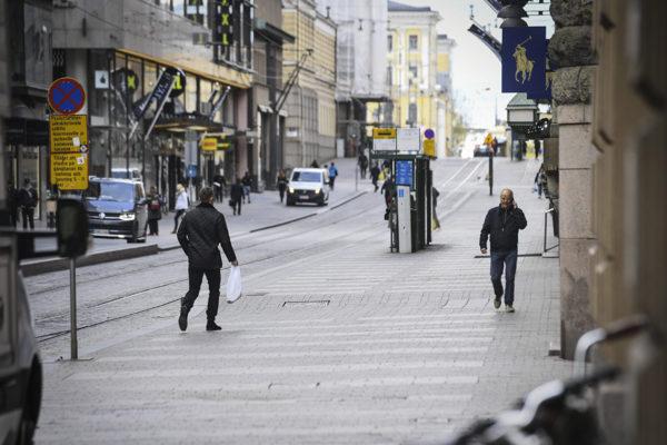 Koronaviruksen hiljentämää Helsingin keskustaa 20. toukokuuta.